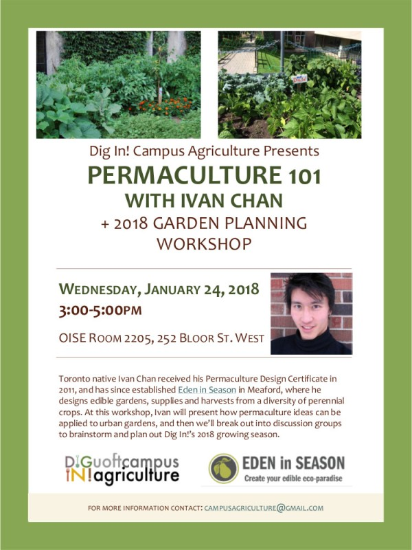 Jan. 24 Permaculture 101 poster