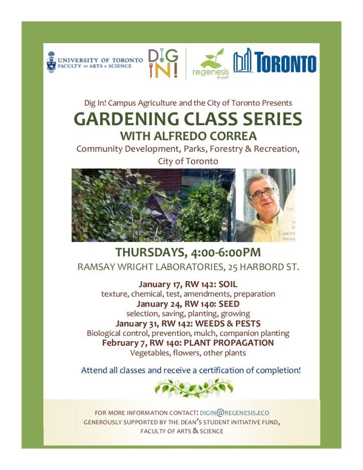 2019 Gardening Classes Poster